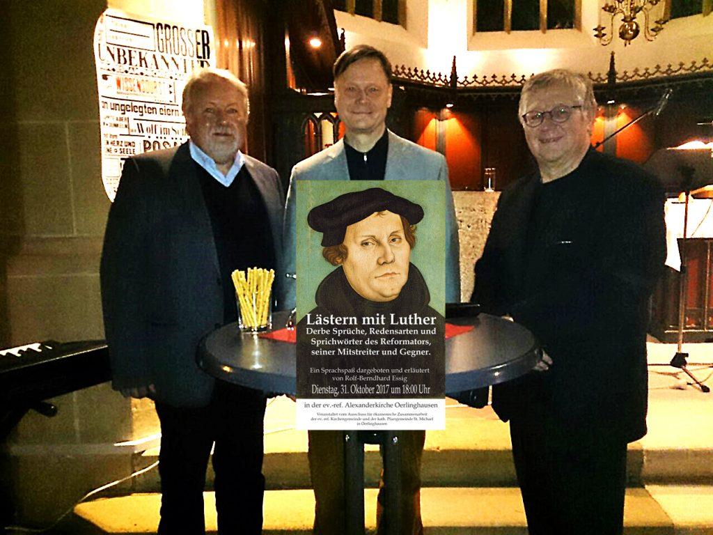 Pfarrer Sommer, Dr. Essig und Jörg Czyborra